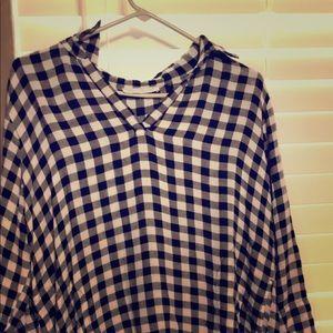 Derek heart plaid blouse